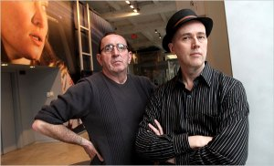 Laurence Hegarty, left, and Peter Drake, who teach at Parsons the New School of Design, are out of fucking work.