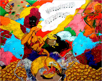 Robert Colescott, Ode to Joy (European Anthem)